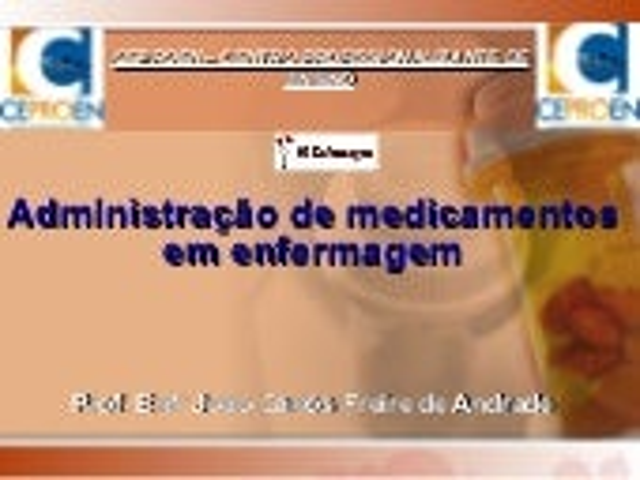 Administração de medicamentos em enfermagem