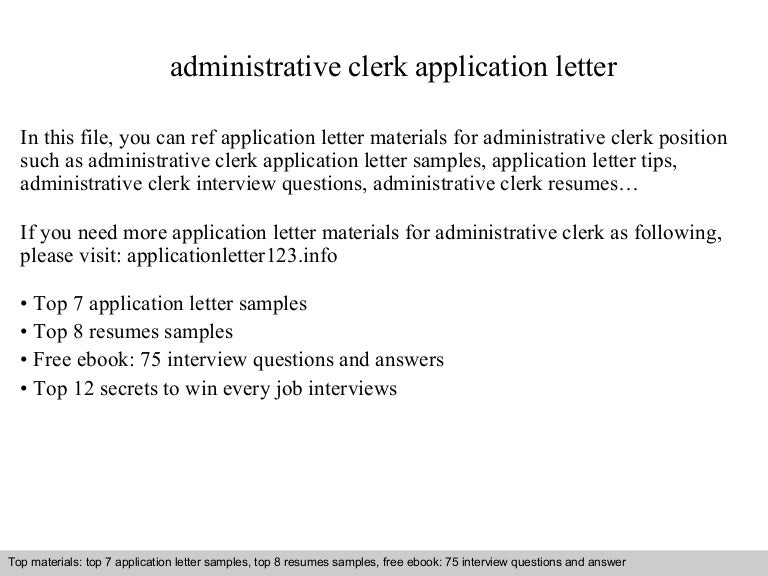 Administrativeclerkapplicationletter 140901233607 Phpapp02 Thumbnail 4?cbu003d1409614595