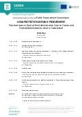 Administrative court and public procurement agenda English
