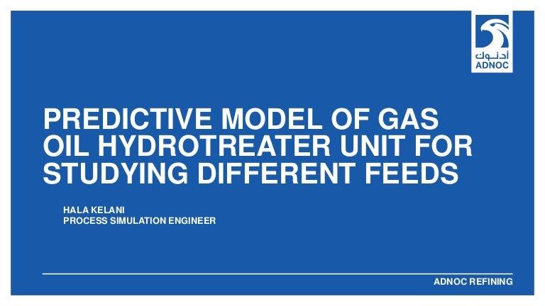 Europe User Conference: ADNOC predictive model of gas oil