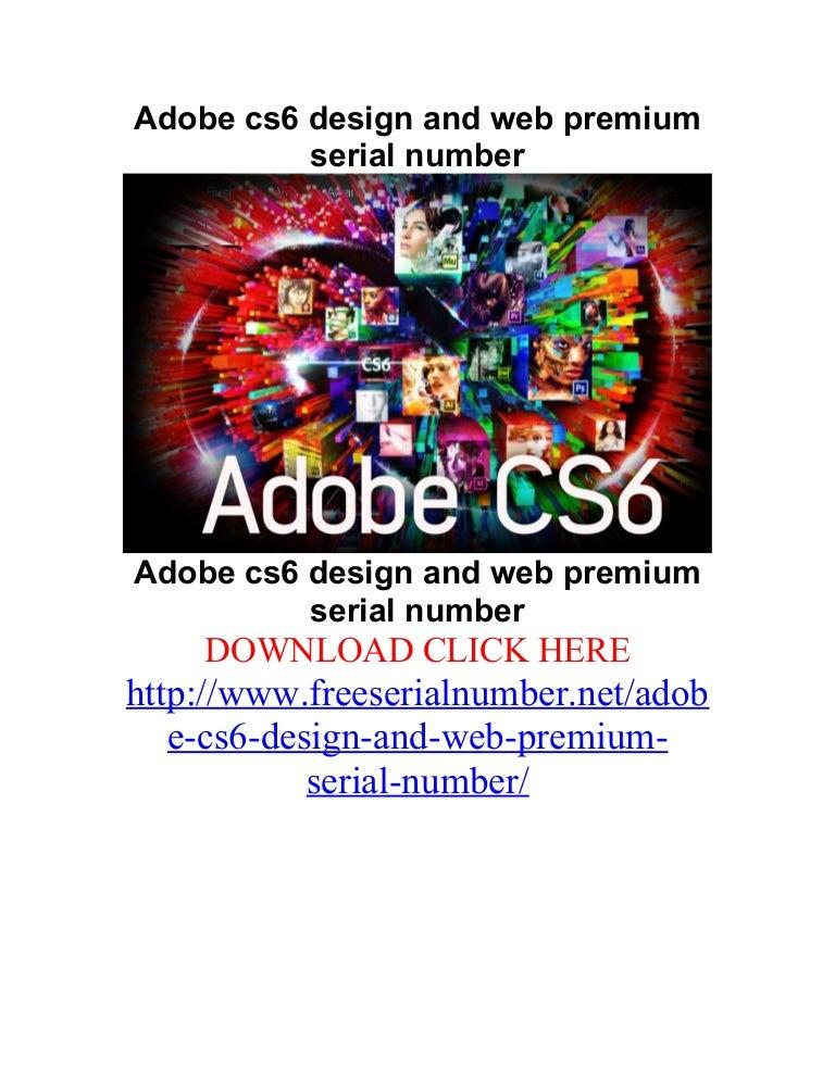 Adobe Cs6 Design And Web Premium Serial Number