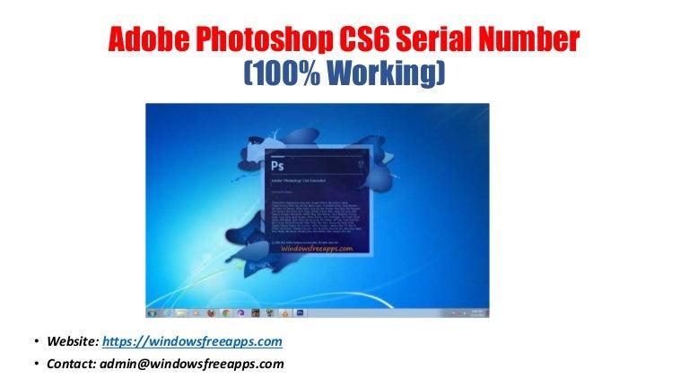 adobe photoshop cs6 serial number free download 2013