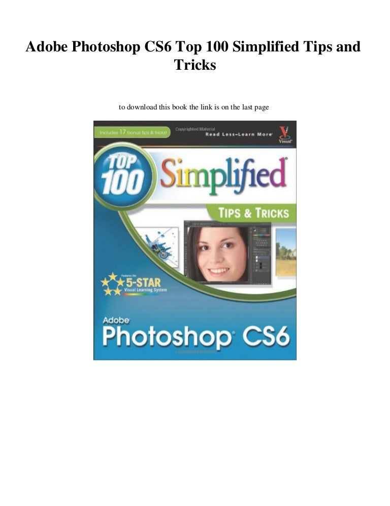 Adobe Photoshop Cs6 Top 100 Simplified Tips And Tricks Discount