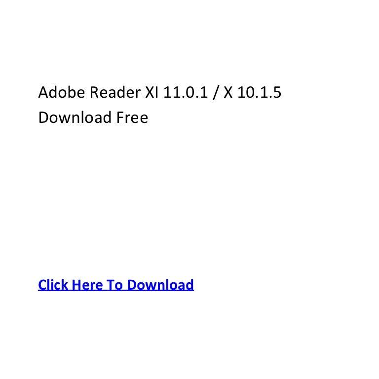 adobe reader x 10.1.5