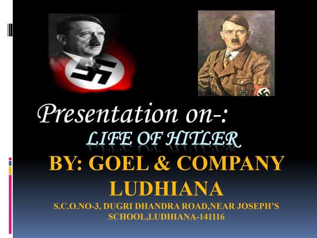 Adolf hitler(by chetan kumar goel ludhiana)