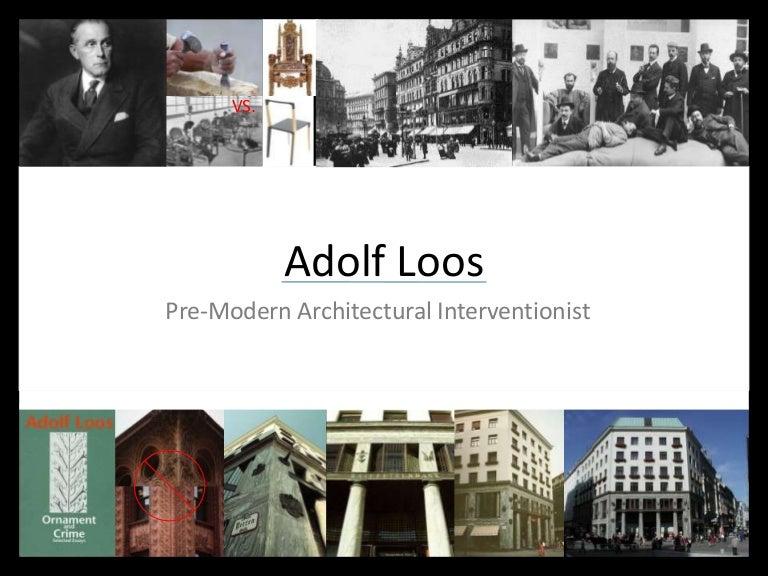 adolf loos ornament and crime summary