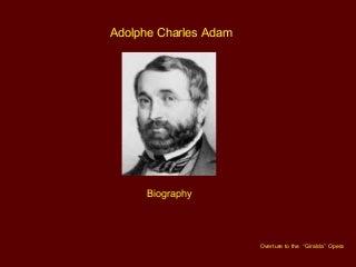 Adolphe Charles Adam Biography