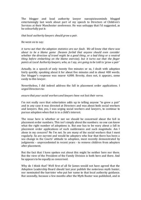 Adoption and my ADCS speech