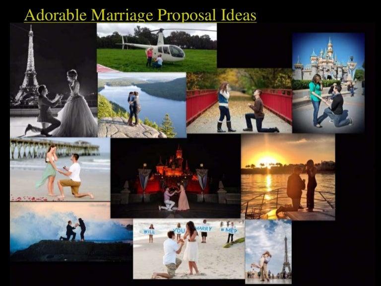 Adorable Marriage Proposal Ideas