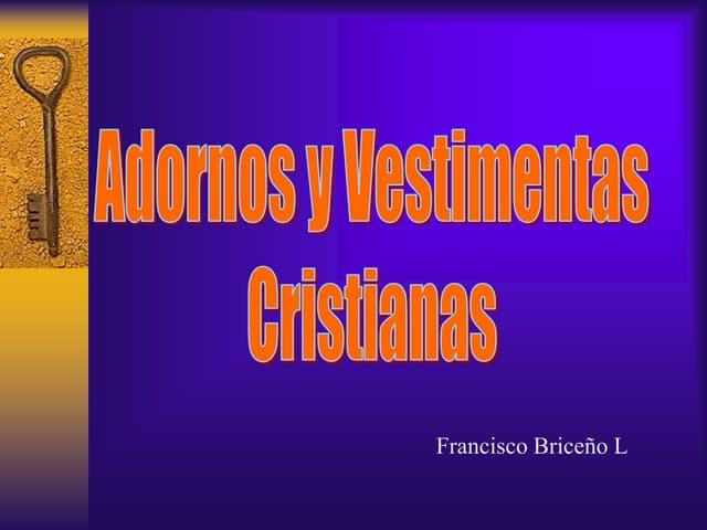 Adornos y Vestimentas Cristianas
