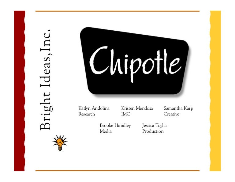 Advertising Plan For Chipotle Restaurants