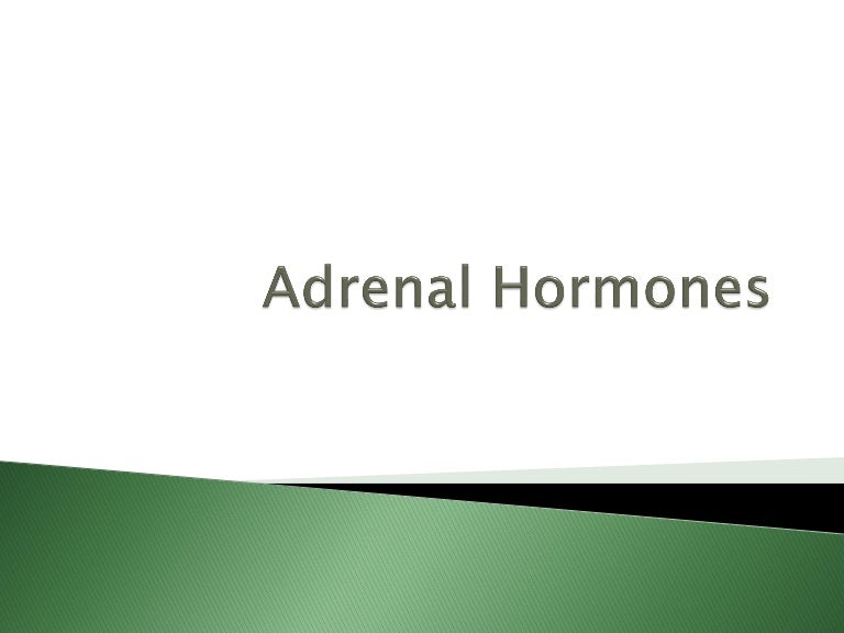 Adrenal Hormones Pharmacology