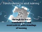 Adult Approach To Education