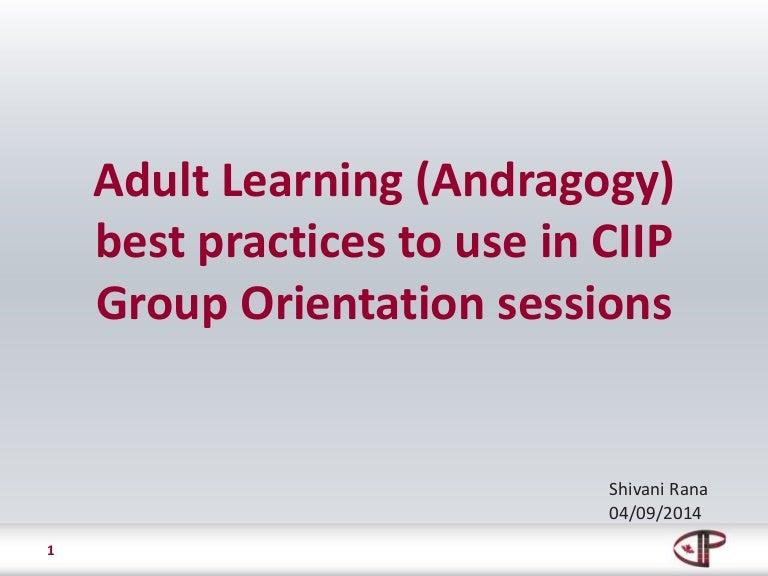 Adult Learning Andragogy At Ciip