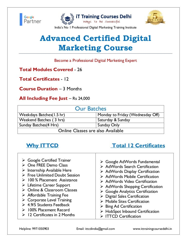 Free Download Complete Digital Marketing Course - ITTCD
