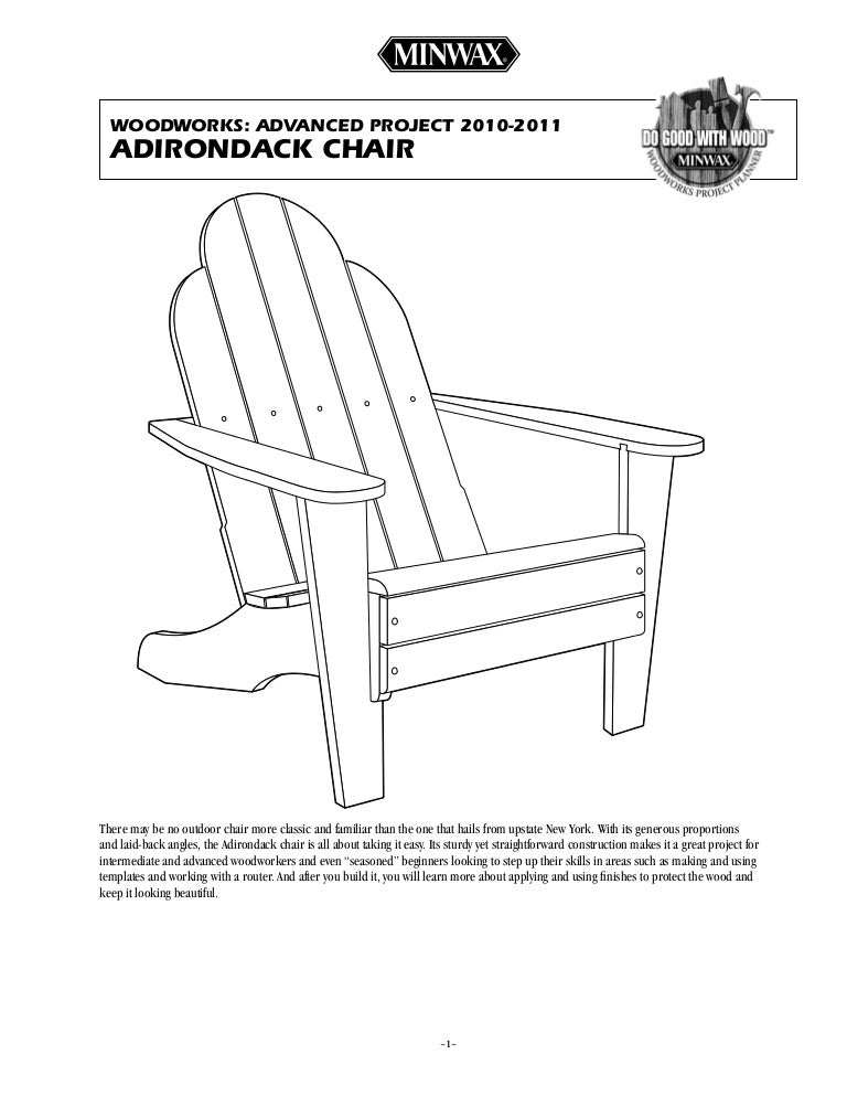 Advanced Project Adirondack Chair