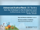 Advanced AuthorRank: 25 Tactics, from the individual to the enterprise level