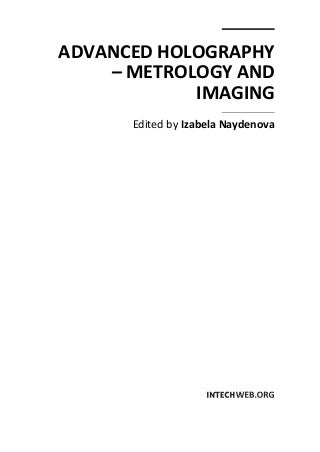 Advanced holography -_metrology_and_imaging