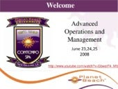 Advanced management & operations