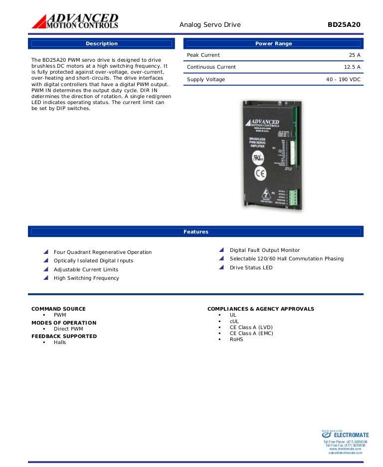 Advanced motion controls bd25a20