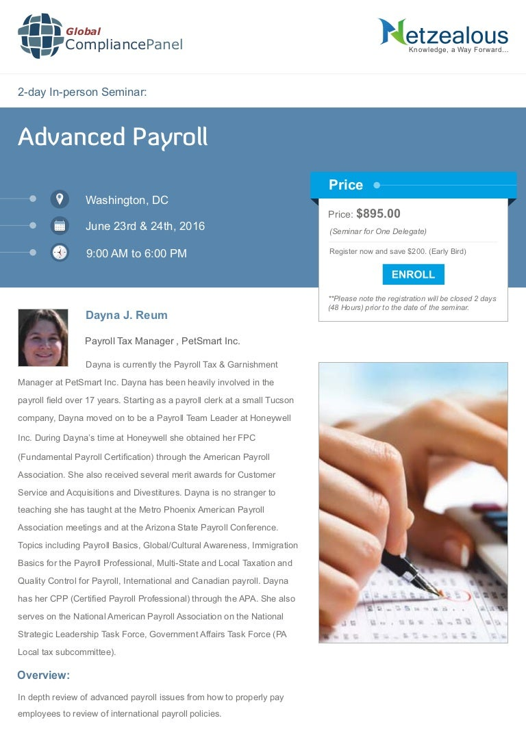 Advanced payroll seminar xflitez Choice Image