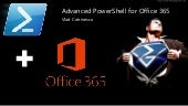 Advanced PowerShell for Office 365