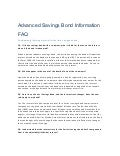 Advanced Savings Bond FAQ 2011