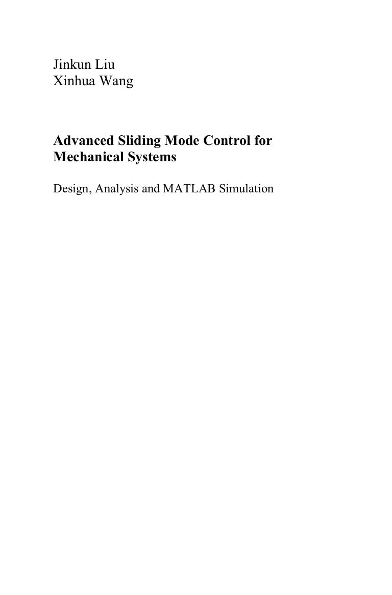 Advanced sliding mode control for mechanical systems fandeluxe Images
