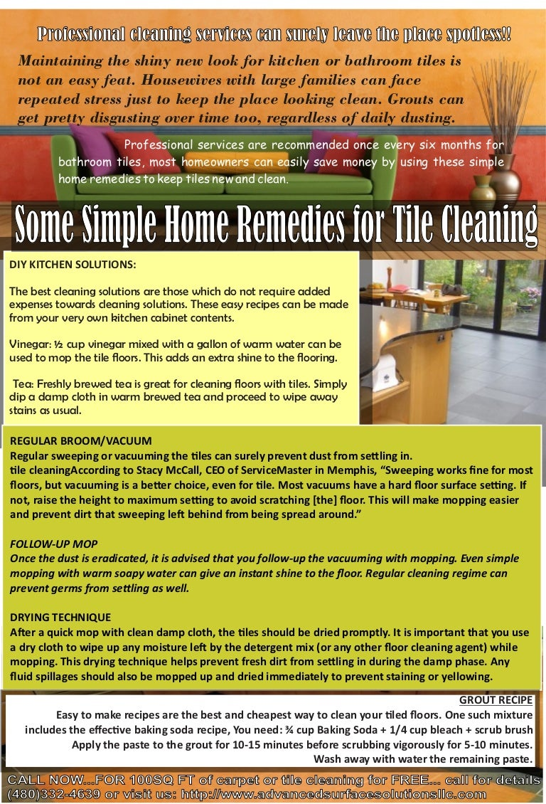 Some Simple Home Remedies For Tile Cleaning - How to clean bathroom tiles home remedies