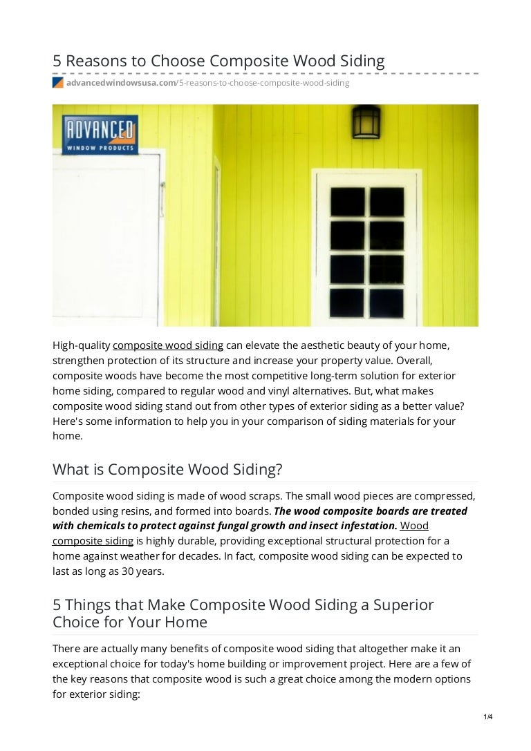 5 Reasons To Choose Composite Wood Siding
