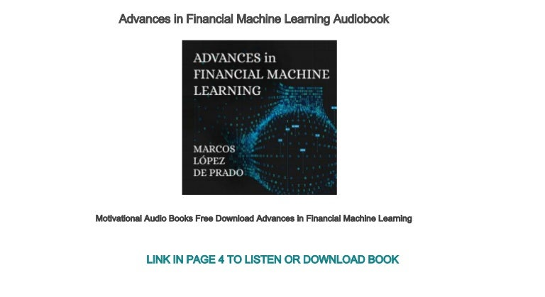 Motivational Audio Books Free Download Advances In Financial Machine