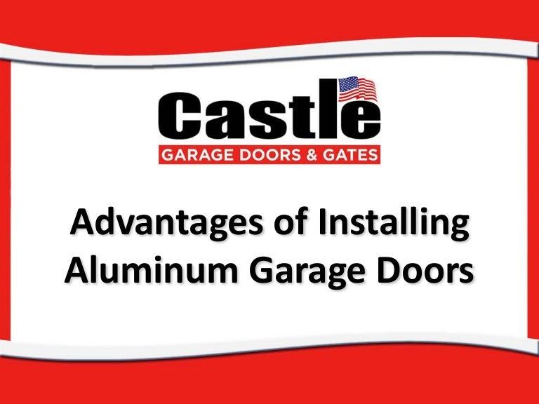 Advantages of Installing Aluminum Garage Doors