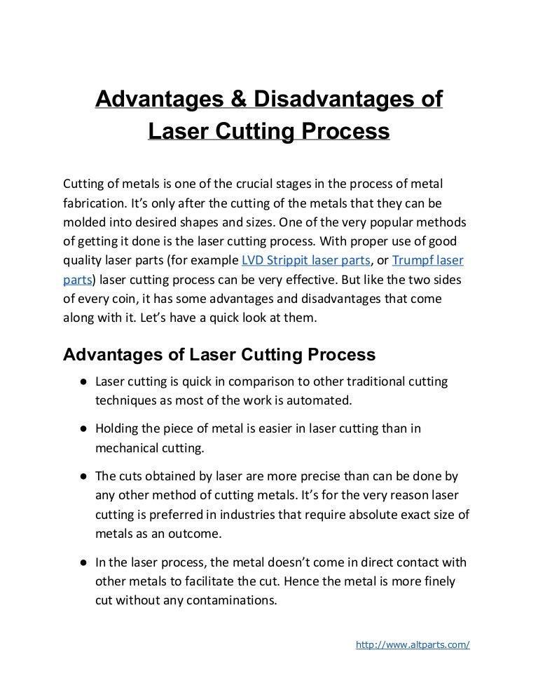 Quest Auto Parts >> Advantages & Disadvantages of Laser Cutting Process