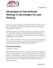 Advantages of Conventional Welding vs Advantages of Laser Welding