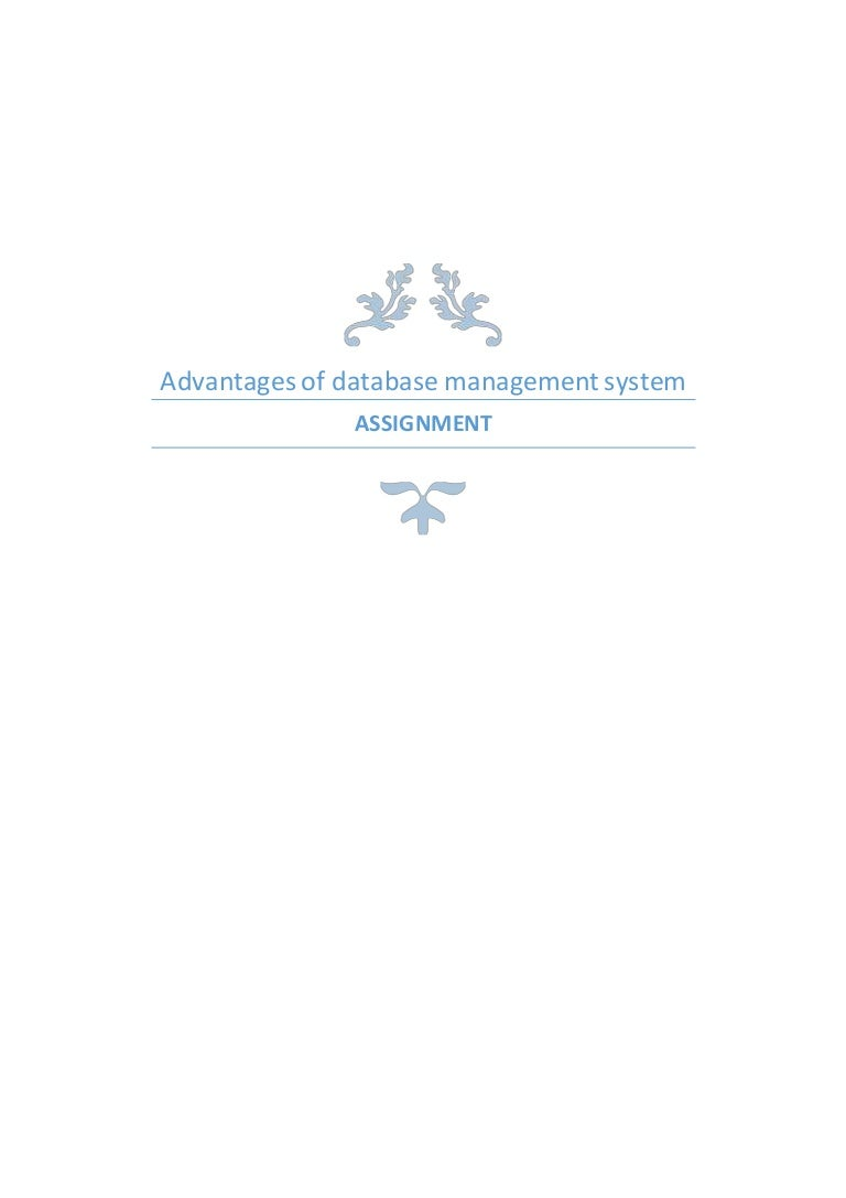 Advantages Of Database Management System Protection Dbms