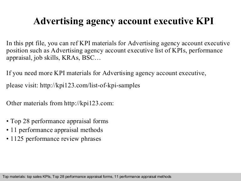 advertising executive job description