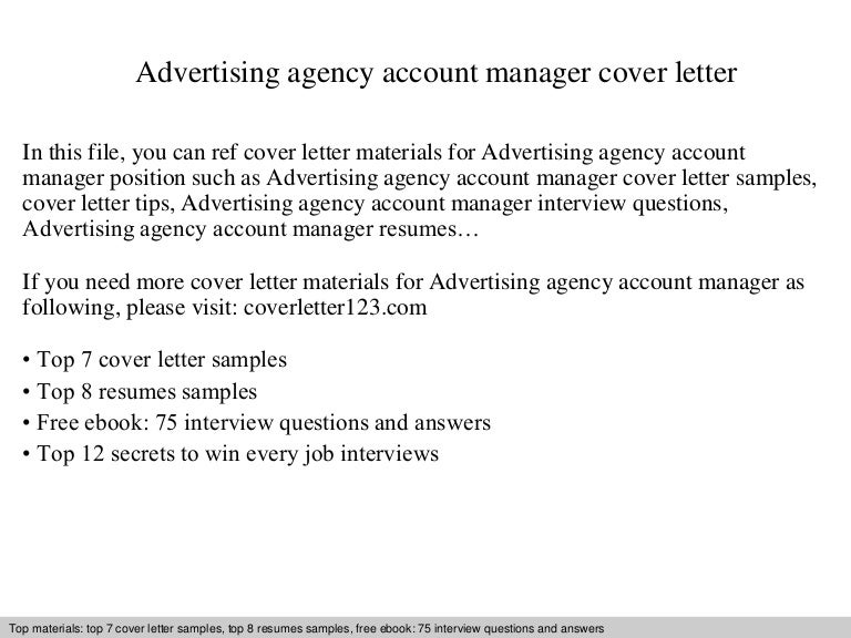 cover letter for ad agency - Etame.mibawa.co