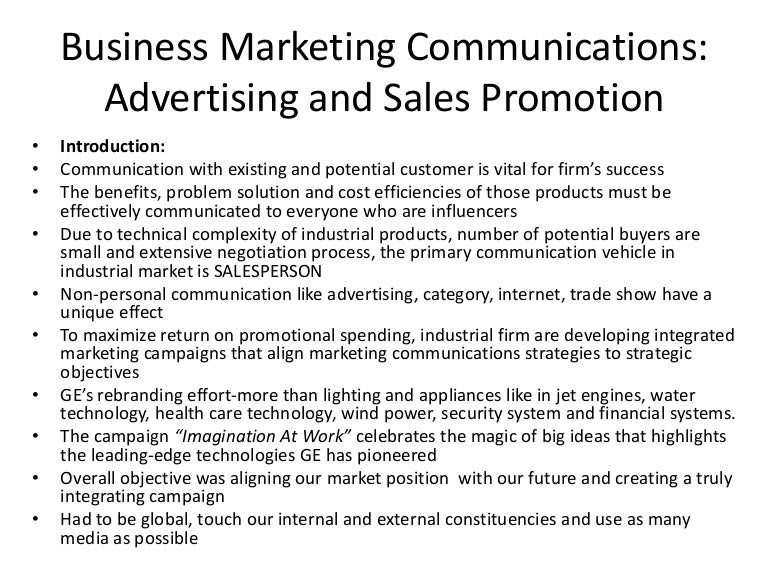 the effectiveness of the execution of a sales promotion essay 1) personal selling 2) advertising 3) sales promotion 4) direct marketing 5) publicity meaning of promotion the term promotion is the term and includes mainly three type of sales activity: 1 mass impersonal selling methods (advertising.
