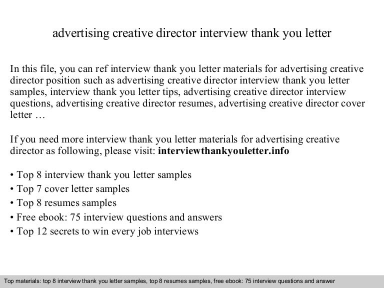 Advertising Creative Director Cover Letter » 6 Creative Cover ...