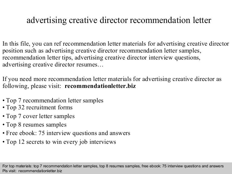 Advertisingcreativedirectorrecommendationletter 140825005836 Phpapp02 Thumbnail 4gcb1408928326