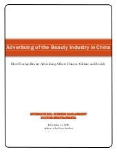 Advertising Of The Beauty Industry In China