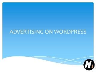 Advertising on wordpress