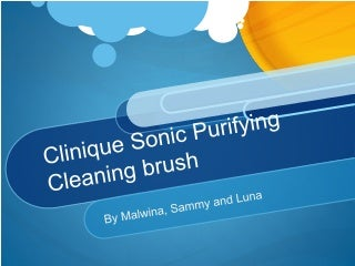Advert presentation (Clinique Sonic Purifying Cleaning brush )