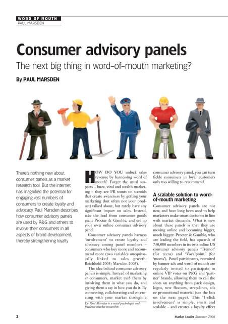 Customer Advisory Boards