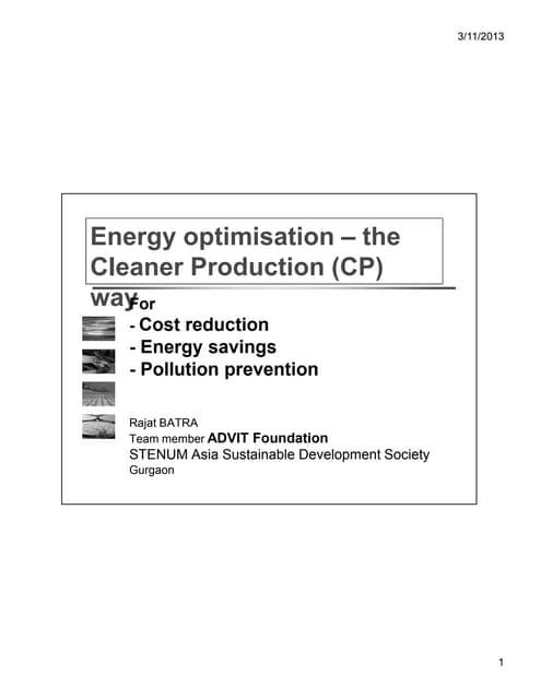 Advit Foundation_Energy Optimization