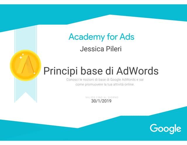 Academy for Ads - Principi base di Adwords - Jessica Pileri