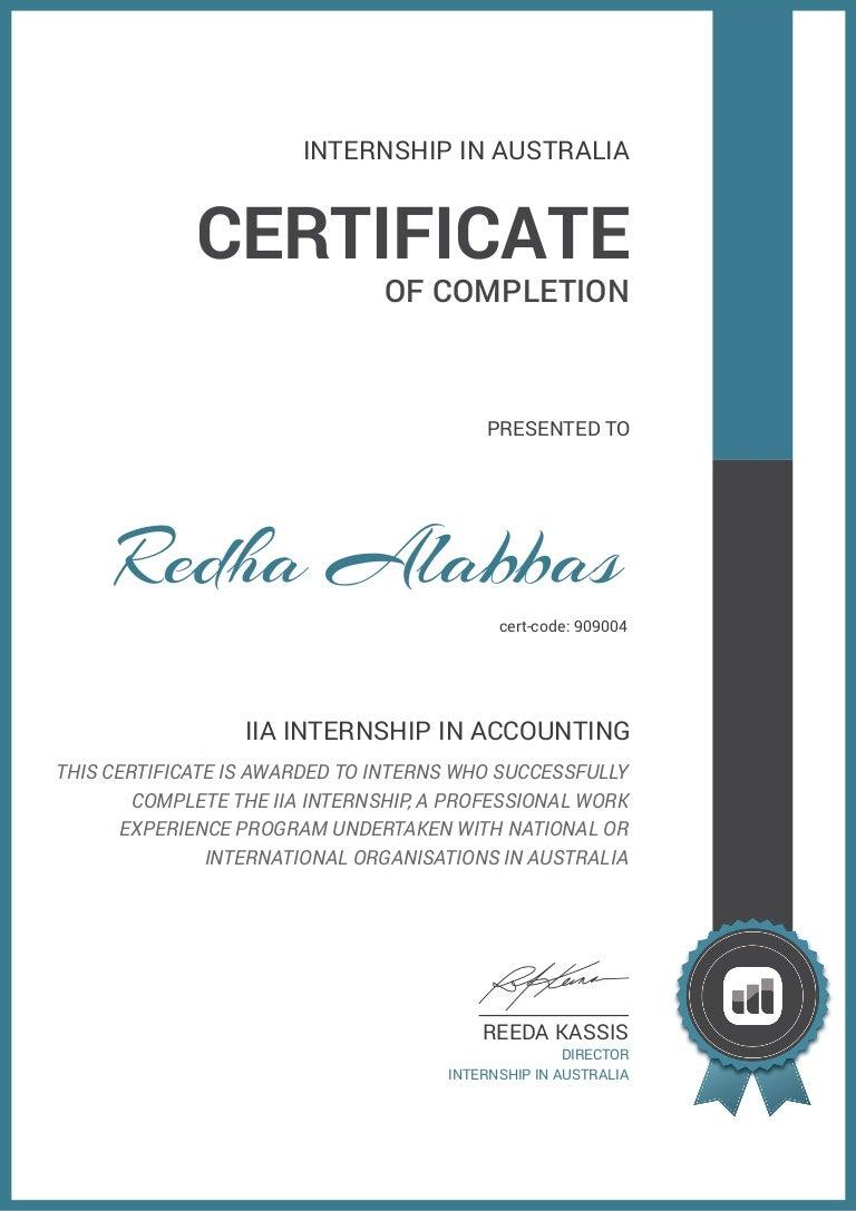 Redha Alabbas Iia Internship Certificate 1