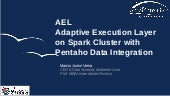 AEL - Adaptive Execution Layer on Spark Cluster with Pentaho Data Integration