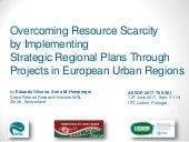 Overcoming Resource Scarcity by Implementing Strategic Regional Plans Through Projects in European Urban Regions