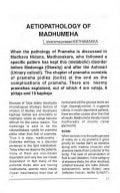 Aetiopathology of madhumeha